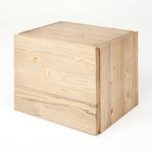 cubo contenitore bagno kubo in rovere