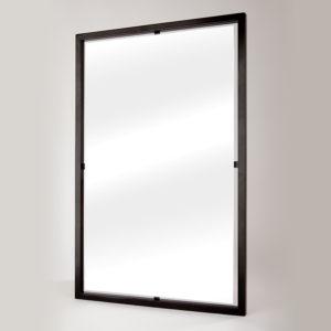 specchio rettangolare con cornice kubo