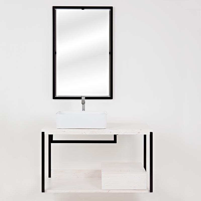 composizione bagno kubo sottolavabo sospeso bianco con cassetto 4