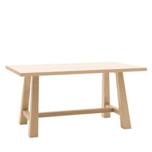 Tavolo rovere in legno massello con bordo dritto