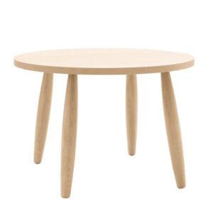 Tavolo rotondo in legno rovere 110cm con gambe tornite
