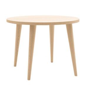 Tavolo rotondo in legno rovere 110cm con gambe spillo per la cucina