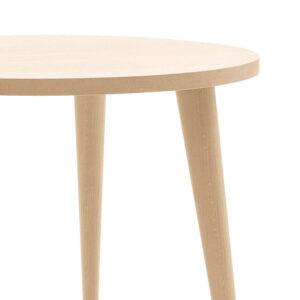 Tavolo rotondo in legno rovere 110cm con gambe spillo