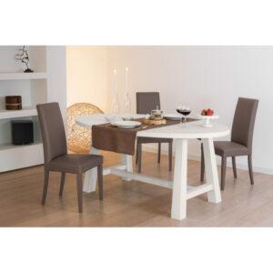 Tavolo ovale in legno massello rovere con bordo dritto soggiorno
