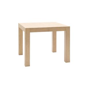 Tavolo quadrato allungabile in legno massello rovere chiuso