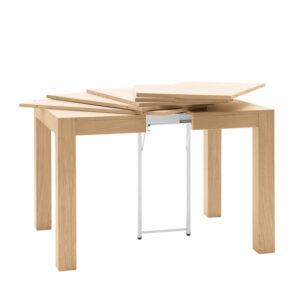 Tavolo quadrato allungabile in legno massello rovere