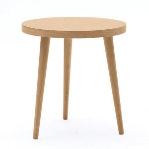 Tavolino rotondo da salotto 60x60 in legno massello rovere