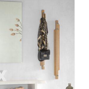 Appendiabiti a muro in legno tris